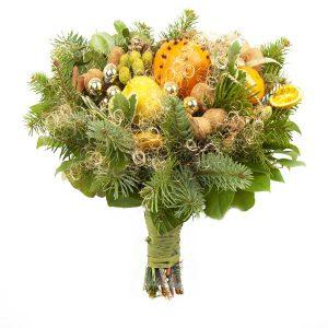 Bukiet zimowy z owocami