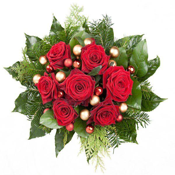 """Bukiet świąteczny """"czerwono-złoty"""""""