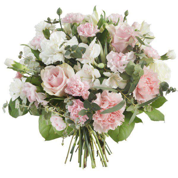 Bukiet Biało Różowy
