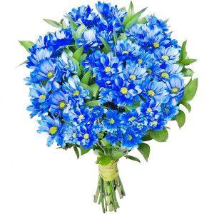 Bukiet ,,Niebieskie margaretki
