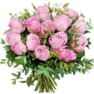 ,,Różowe róże''