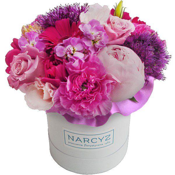 """,,Flowerbox z różowymi kwiatami"""""""