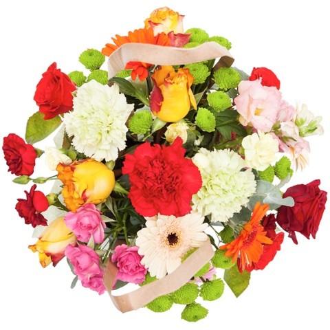 """""""Bukiet kolorowych kwiatów w torebce"""""""