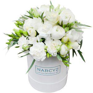 """,,Flowerbox z białymi kwiatami"""""""