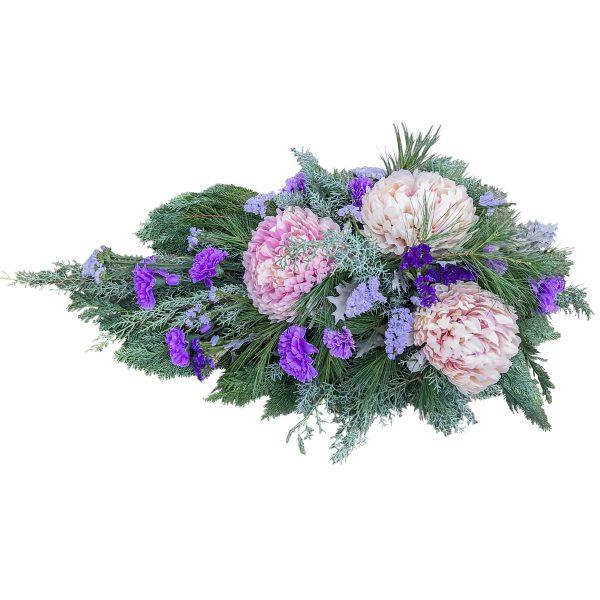 """Wiązanka różowo-fioletowa kondolencyjna """"Tęsknota"""""""