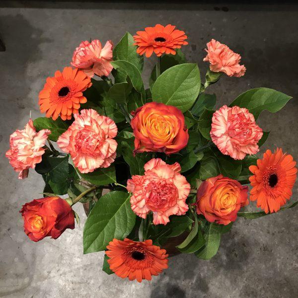 Pomarańczowy Flowerbox z owocami