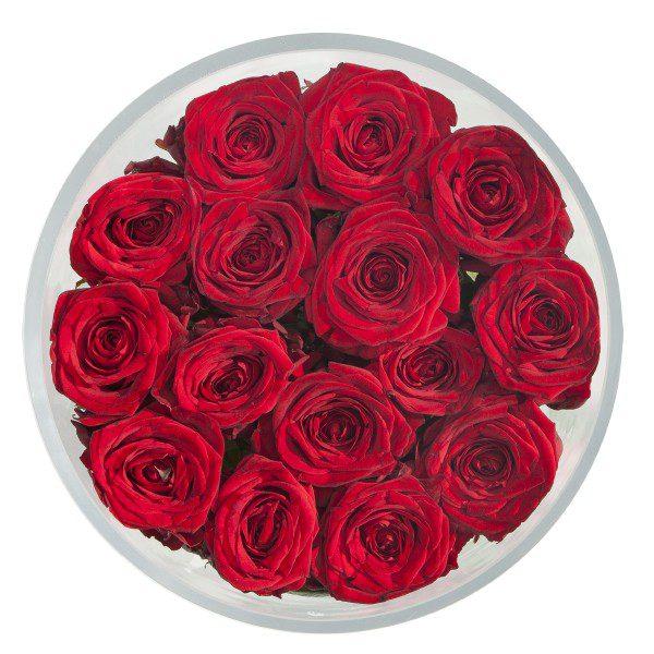 """""""Czerwone róże w szkle"""""""