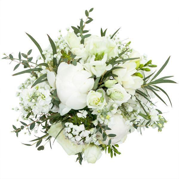 Bukiet, Ślubny biały z eukaliptusem'